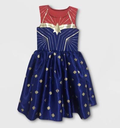 Kids Captain Marvel sparkle dress from target