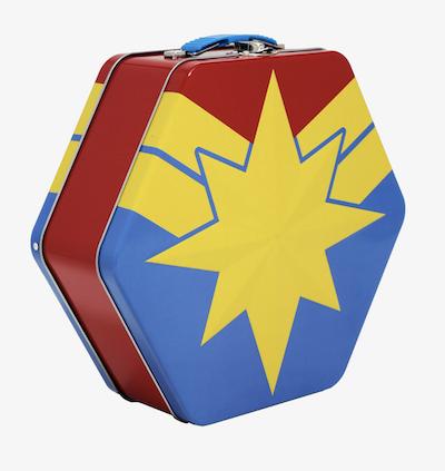 Metal Captain marvel lunch box