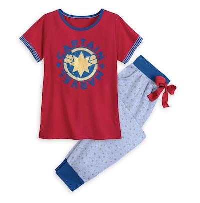 Captain Marvel pajama set