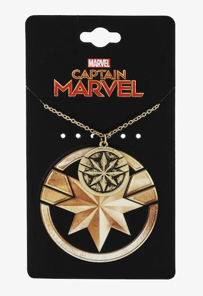 Captain Marvel pendant necklace