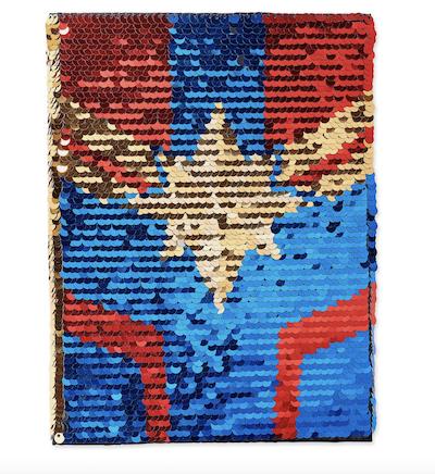Captain Marvel sequin journal