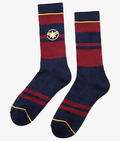 Captain Marvel Merchandise socks