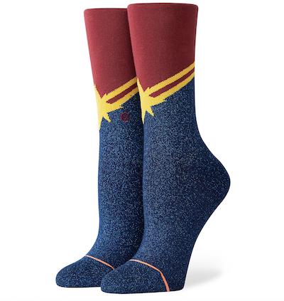 Captain Marvel socks by Stance