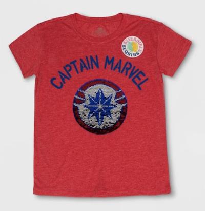 captain marvel sequin shirt for kids