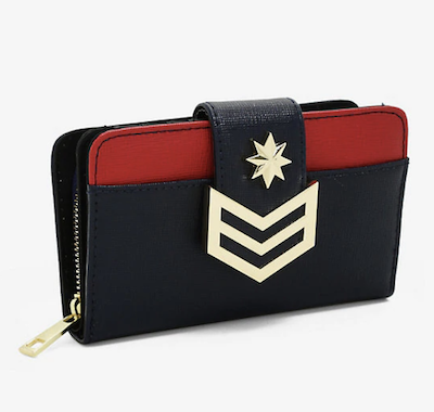 captain marvel wallet with flap from Box Lunch