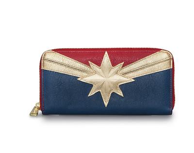 Captain Marvel zipper wallet