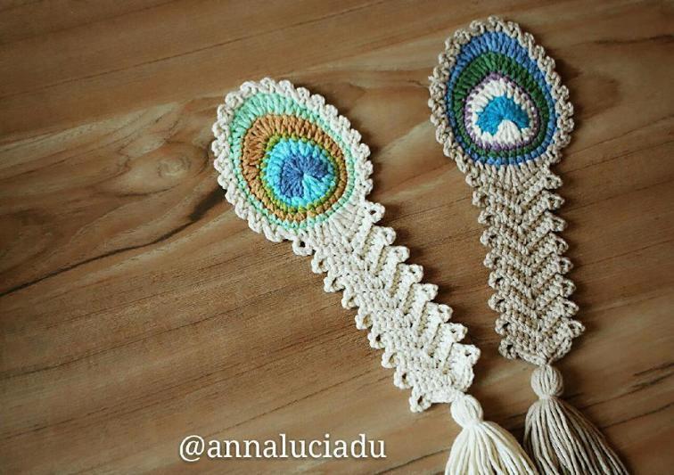 Crochet peacock feather anna luciadu