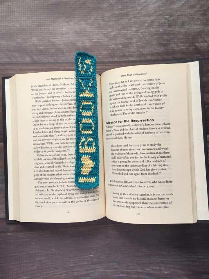 crochet I Love Books bookmark from edyth blayn