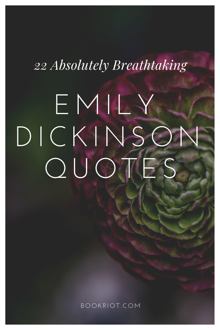 22 Absolutely Breathtaking Emily Dickinson Quotes Book Riot