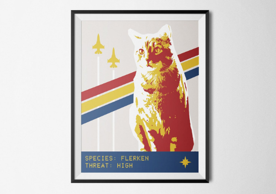 Flerken Poster from Captain Marvel Goose Goodies You Need in Your Life | bookriot.com