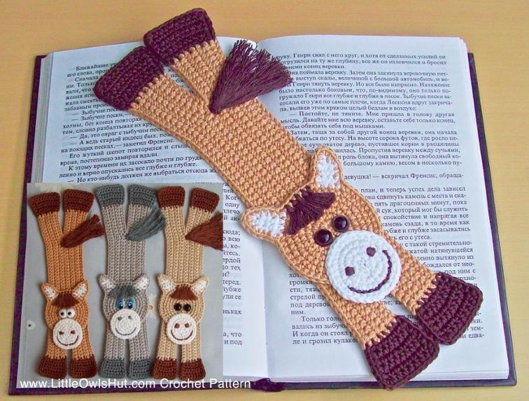 crochet horse bookmark by Little Owls Hut