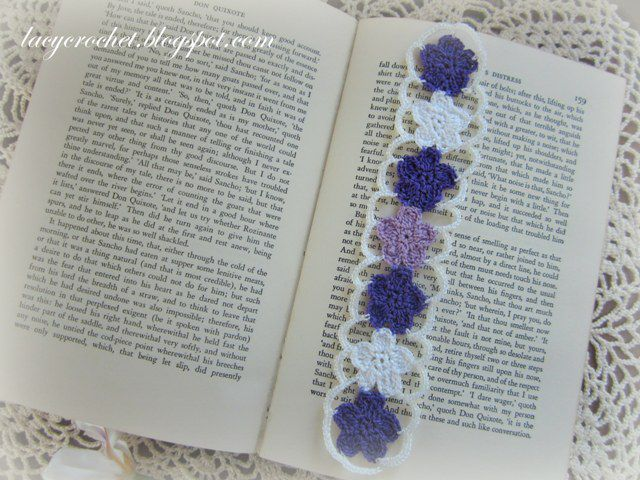 Flower Bookmark from Lacy Crochet