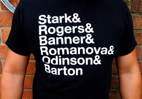 Avengers Fab 5 Shirt from Marvel Tees To Show Off Your Love for Avengers: Endgame | bookriot.com