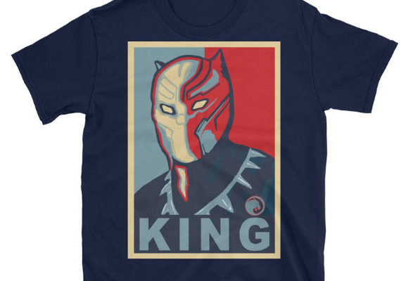 Black Panther King Shirt from Marvel Tees To Show Off Your Love for Avengers: Endgame | bookriot.com