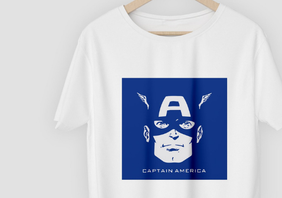 Captain America from Marvel Tees To Show Off Your Love for Avengers: Endgame | bookriot.com