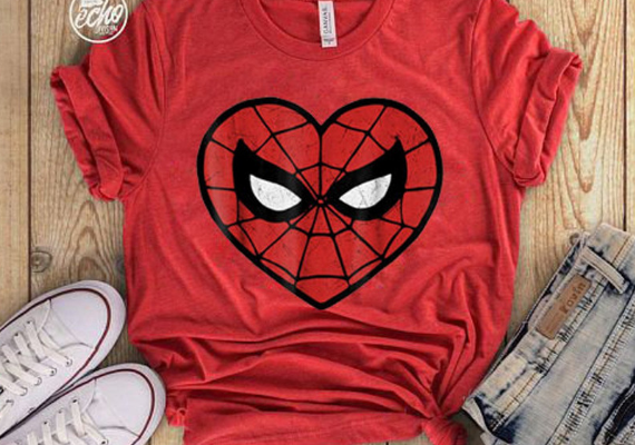 Spider-Man Heart Shirt from Marvel Tees To Show Off Your Love for Avengers: Endgame | bookriot.com