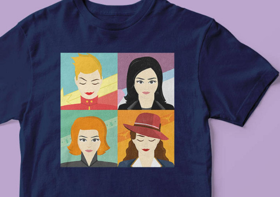 MCU Heroines from Marvel Tees To Show Off Your Love for Avengers: Endgame | bookriot.com