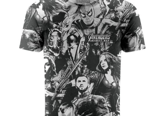 Avengers Infinity War Cast Shirt from Marvel Tees To Show Off Your Love for Avengers: Endgame | bookriot.com