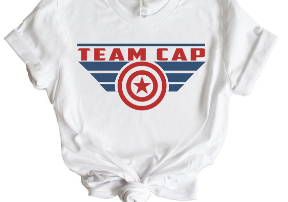 Team Cap Shirt from Marvel Tees To Show Off Your Love for Avengers: Endgame | bookriot.com