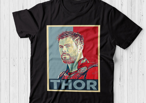 Thor Shirt from Marvel Tees To Show Off Your Love for Avengers: Endgame | bookriot.com