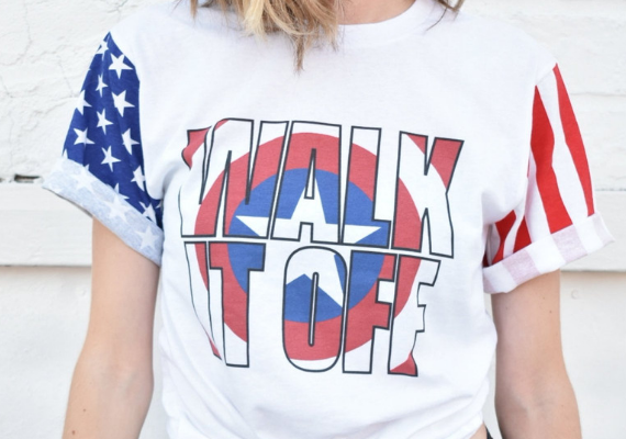 Walk It Off Shirt from Marvel Tees To Show Off Your Love for Avengers: Endgame | bookriot.com