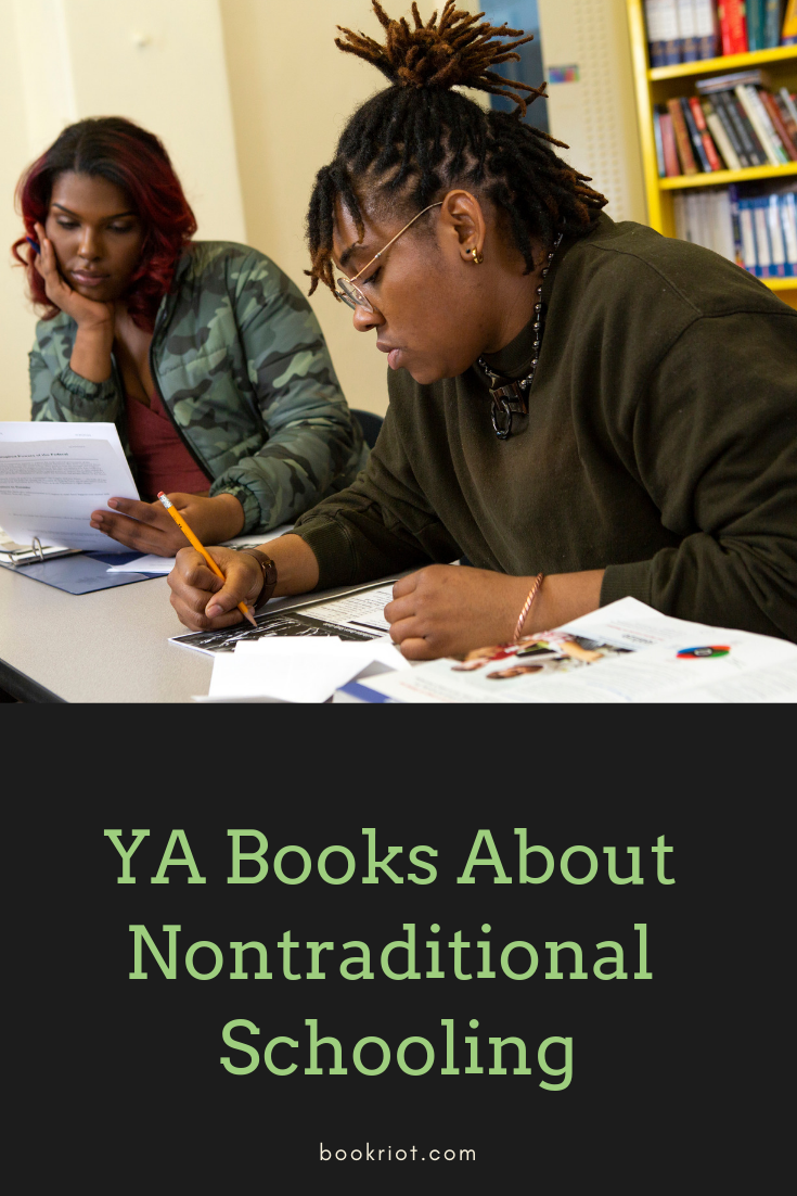 Enjoy a YA book featuring nontraditional schooling. Wilderness education, trade work, and more! book lists | ya books | YA book lists | #YALit