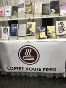 Coffee House Press table at AWP 2019 Book Fair