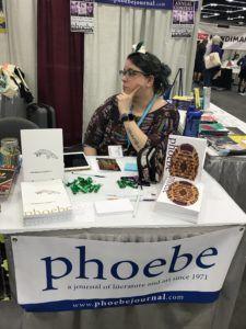 Phoebe table at AWP 2019 Book Fair