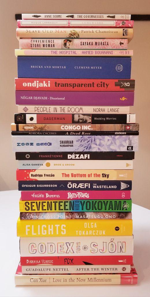 Fiction Longlist. Best Translated Book Award 2019 Longlists