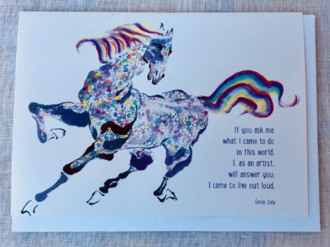 greeting card with Emile Zola quote