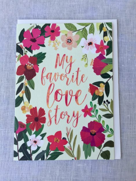 favorite love story anniversary card