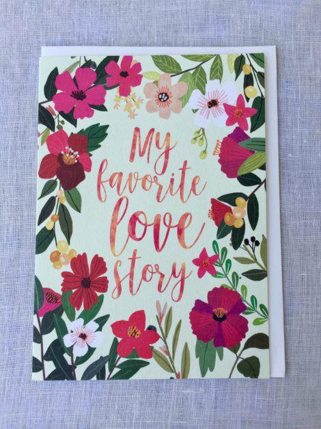 favorite love story anniversary card