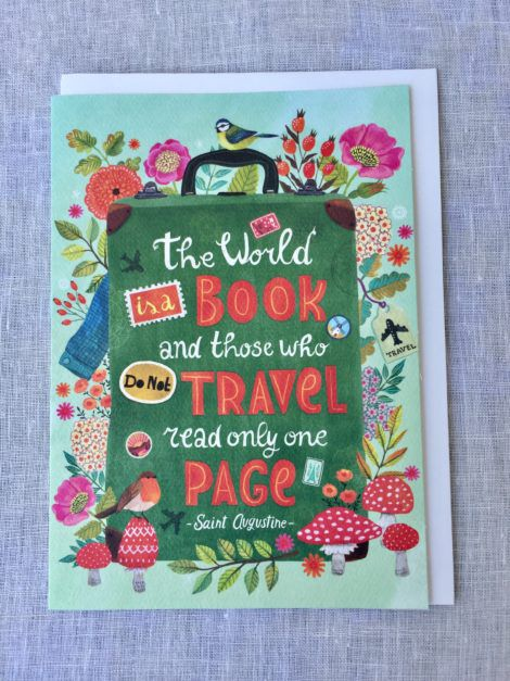 the world is a book greeting card
