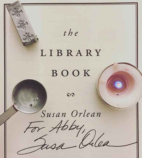 The Library Book by Susan Orlean Signed