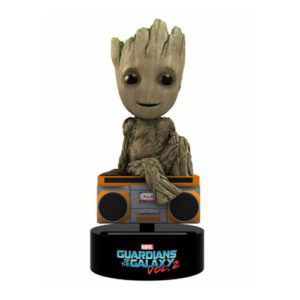 baby groot solar body knocker toy