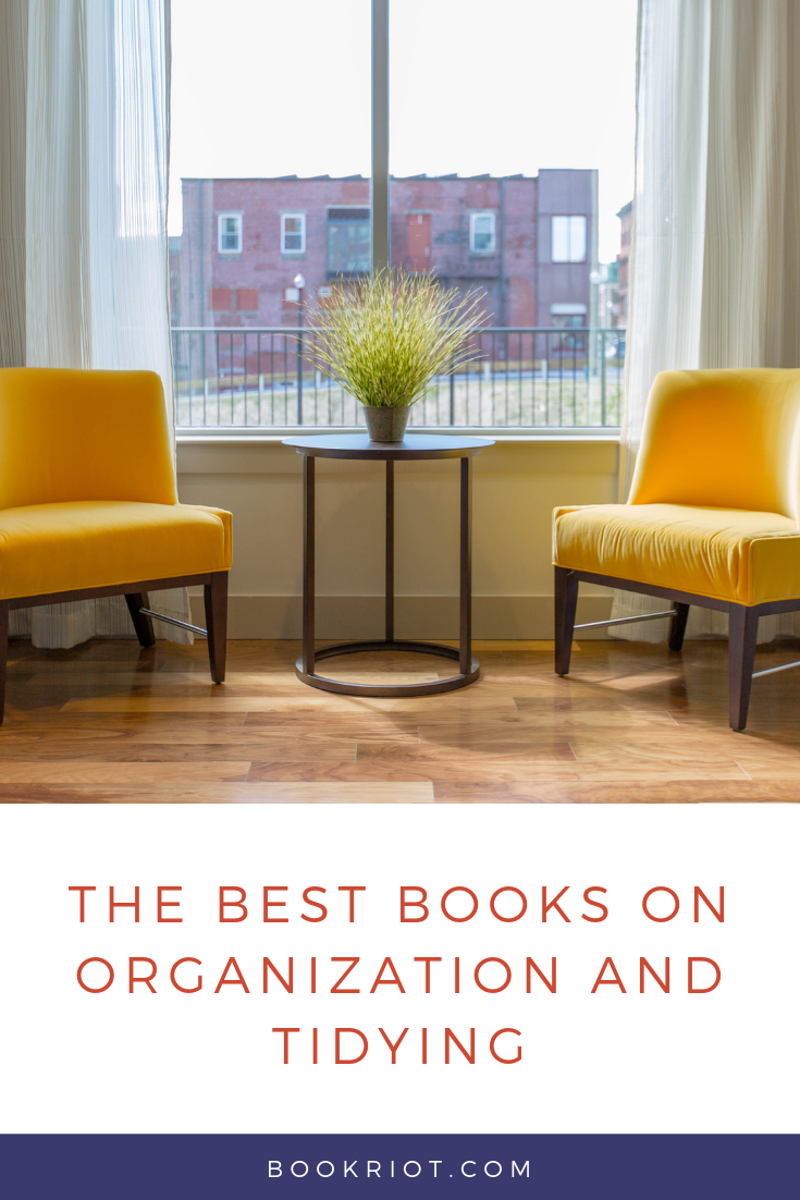 Get your home in ship shape with these great books on organizing and tidying. book lists | home organization | books about home organization | books about tidying | books on cleaning up | keeping an organized home