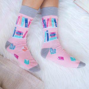 Pink Book Lover Socks
