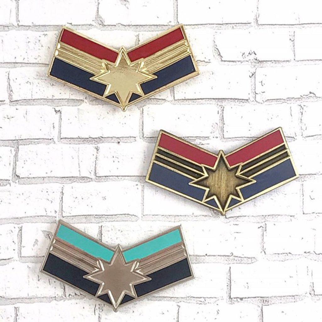 Captain marvel Enamel Pins