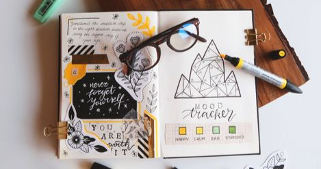 hand lettering journal calligraphy feature