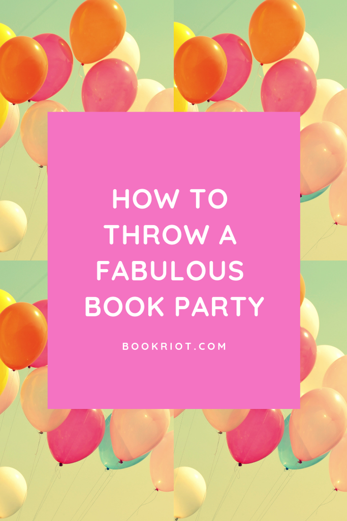 Throw the best book themed party possible. Here are some ideas for the perfect invites and more. how to | party planning | bookish party | literary party ideas