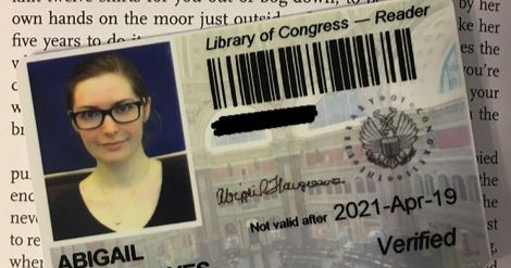library of congress reader card feature