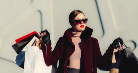 rich woman shopping luxury lifestyle feature