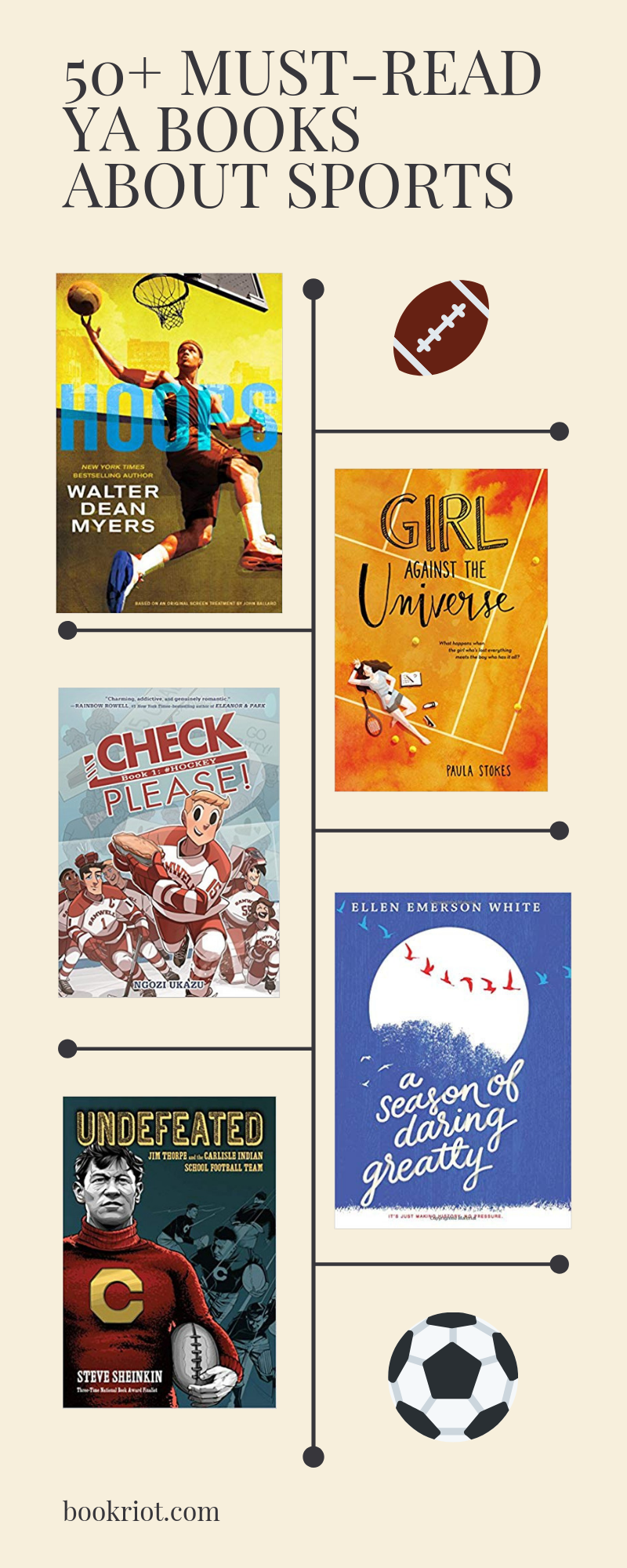 Over 50 outstanding YA books about sports for all types of readers and athletic enthusiasts. book lists | YA books | YA books about sports | YA sports books | Young Adult books | sports books | sports fiction | sports nonfiction | nonfiction books | #YALit