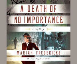 A Death of No Importance audiobook cover image