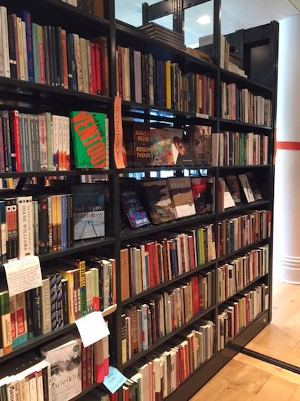 Poetry section at City of Asylum in Pittsburgh, Pennsylvania