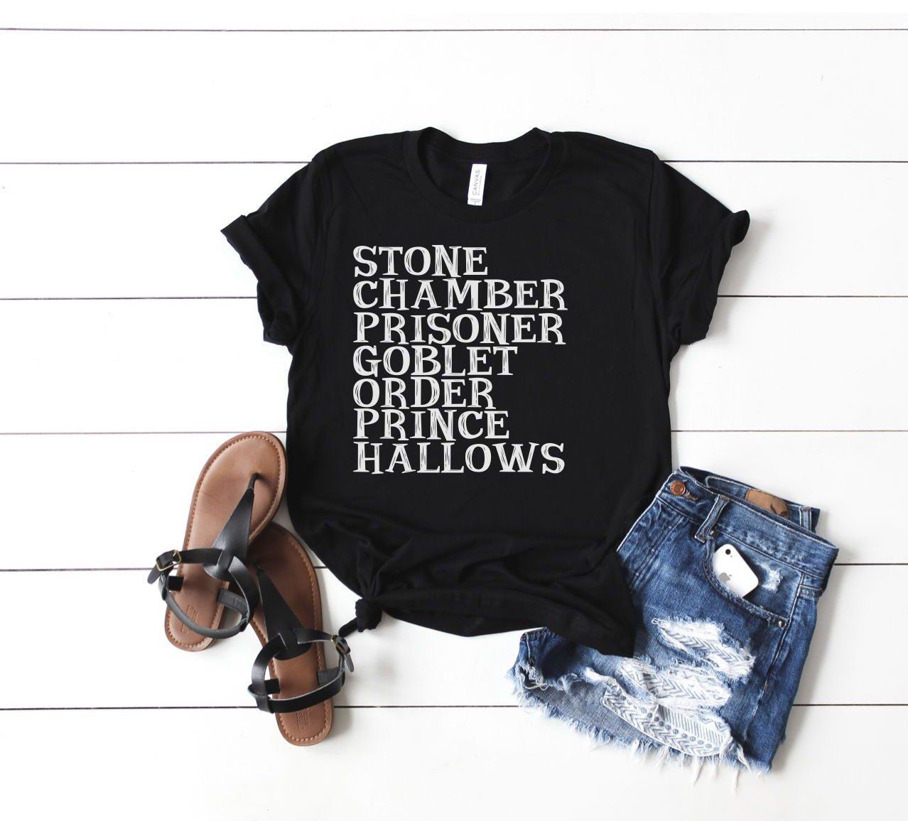 Harry Potter books list shirt