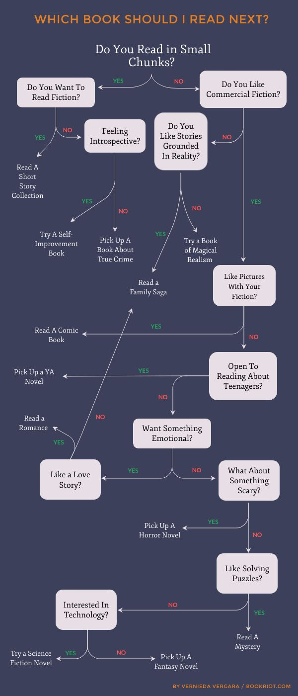 How Do I Find a Book to Read Flowchart