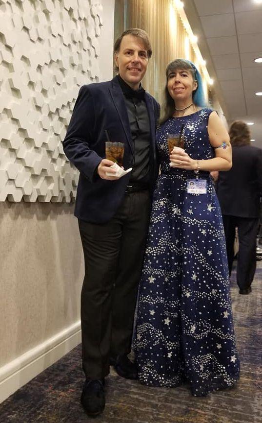 José Iriarte and Elle E. Ire at the Nebulas