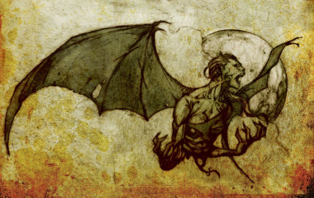Manananggal, mythical creature of the Philippines by Gian Bernal