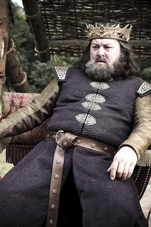 Mark Addy as Robert Baratheon in Game of Thrones